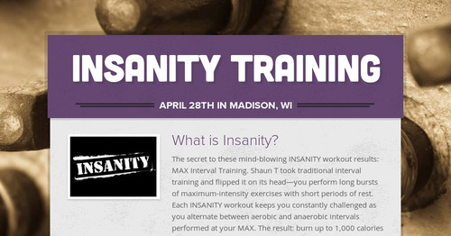 insanity training smore newsletters