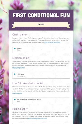Smore Newsletters: First Conditional Fun