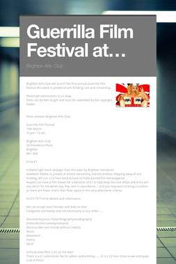 Guerrilla Film Festival at…