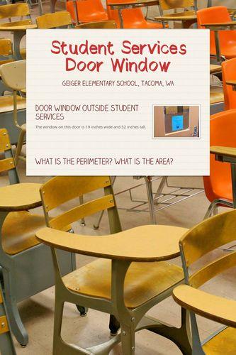 Student Services Door Window