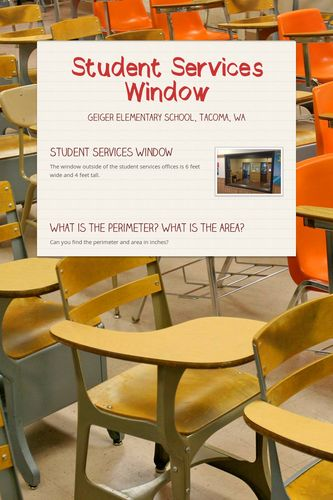 Student Services Window