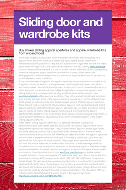 Sliding door and wardrobe kits