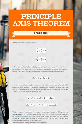 Principle Axis Theorem
