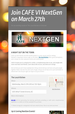 Join CAFE VI NextGen on March 27th