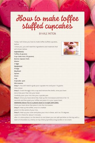 How to make toffee stuffed cupcakes
