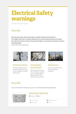 Electrical Safety warnings