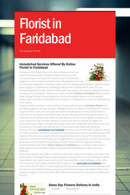 Florist in Faridabad