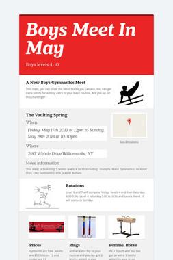 Boys Meet In May
