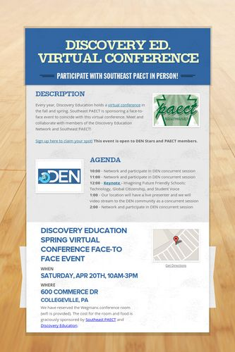Discovery Ed. Virtual Conference