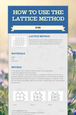 How to use the lattice method
