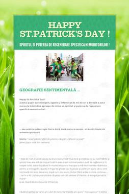 Happy St.Patrick's Day !