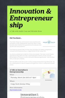 Innovation & Entrepreneurship