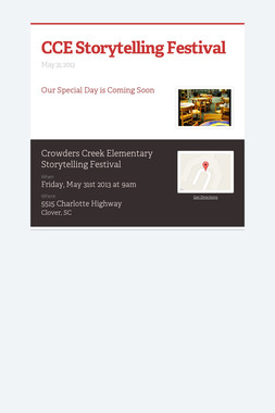 CCE Storytelling Festival