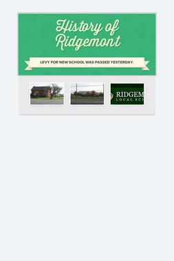 History of Ridgemont