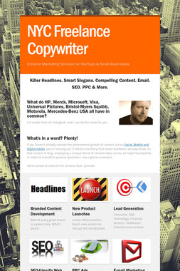 NYC Freelance Copywriter