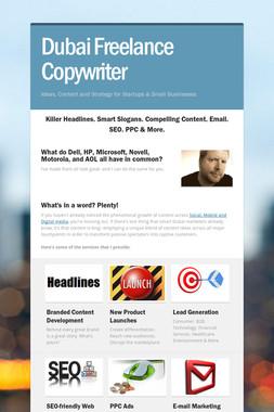 Dubai Freelance Copywriter