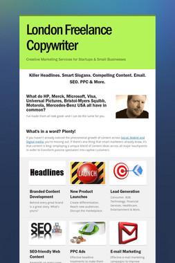 London Freelance Copywriter