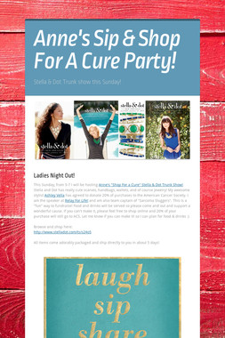Anne's Sip & Shop For A Cure Party!