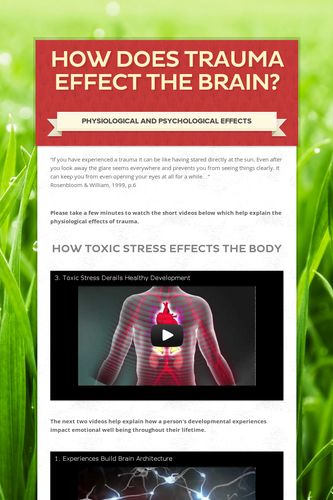 How Does Trauma Effect the Brain?