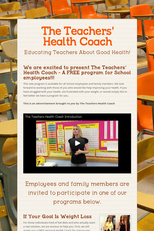The Teachers Health Coach Smore Newsletters