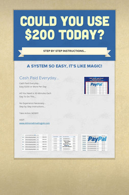 Could You Use $200 Today?