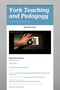 York Teaching and Pedagogy