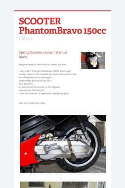 SCOOTER PhantomBravo 150cc