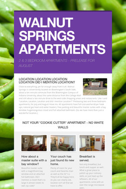 WALNUT SPRINGS APARTMENTS