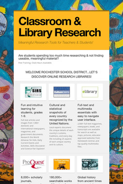 Classroom & Library Research