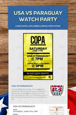 USA vs Paraguay Watch Party