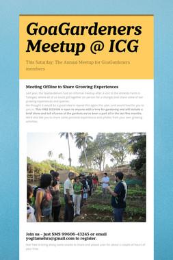GoaGardeners Meetup @ ICG