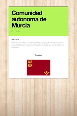 Comunidad autonoma de Murcia