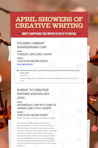 April Showers of Creative Writing