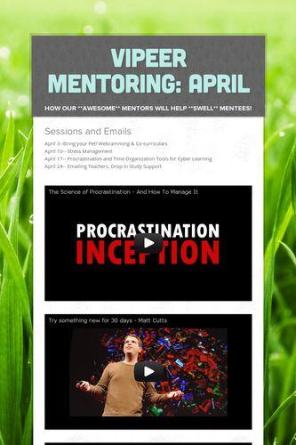 VIPeer Mentoring: April