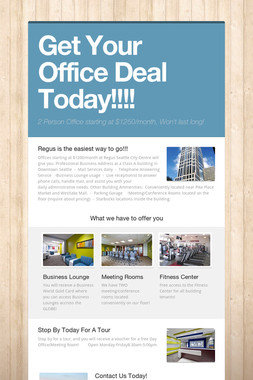 Get Your Office Deal Today!!!!