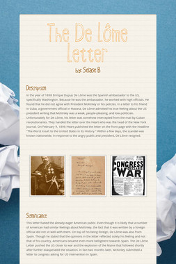 The De Lôme Letter