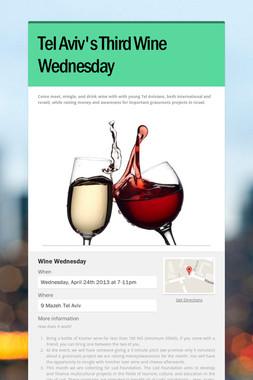 Tel Aviv's Third Wine Wednesday