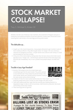 STOCK MARKET COLLAPSE!