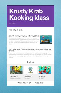 Krusty Krab Kooking klass