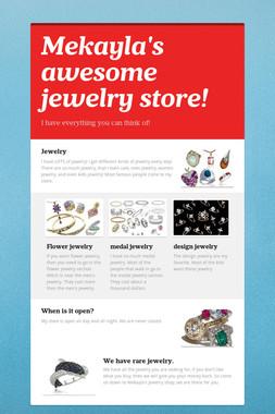 Mekayla's awesome jewelry store!