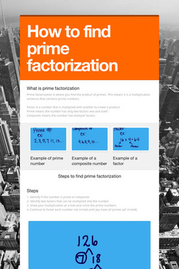 How to find prime factorization