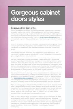 Gorgeous cabinet doors styles