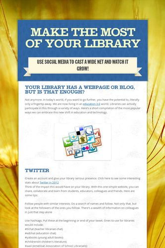 make the most of your library