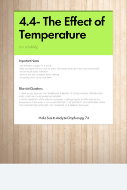 4.4- The Effect of Temperature