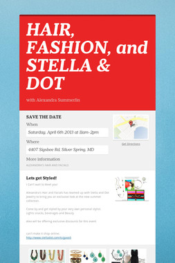 HAIR, FASHION, and STELLA & DOT