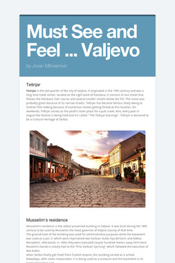 Must See and Feel ... Valjevo