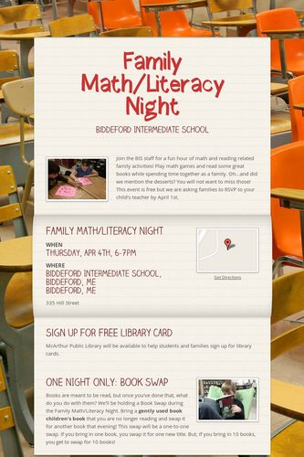 Family Math/Literacy Night