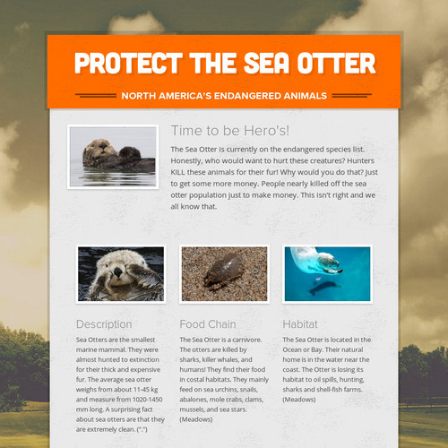 Protect the Sea Otter
