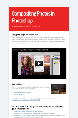 Compositing Photos in Photoshop