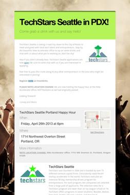 TechStars Seattle in PDX!